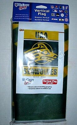 "University Alaska Anchorage Seawolves Vertical Flag 27""x37"" Indoor Outdoor New 1"