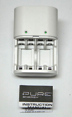 Pure Energy EDC4-A rechargeable battery charger AA & AAA, batteries not - Pure Energy Battery