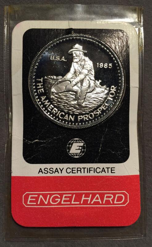 *1985 ENGELHARD Platinum 99.95 American Prospector 1oz in Assay*