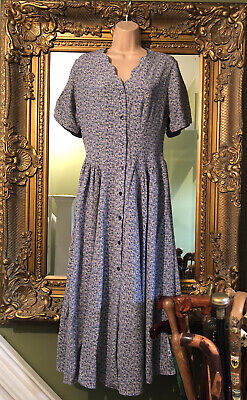 Super Rare Laura Ashley vintage Blue Floral dress size 12 Absolutely Stunning