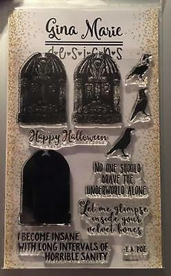 Halloween Tombstones Designs (Gina Marie designs Clear layering stamp set - Tombstone - Halloween -)