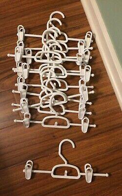 Homz Smart Solutions White Plastic Pant/Skirt Hangers (Lot of 12)