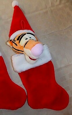 DISNEY CHRISTMAS STOCKING TIGGER 3D PLUSH EXCELLENT CLEAN CONDITION C1