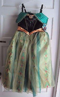 Nwt Disney Laden Eiskönigin Fever Deluxe Anna Krönung Kostüm Cosplay (Deluxe Eis Prinzessin Kostüm)
