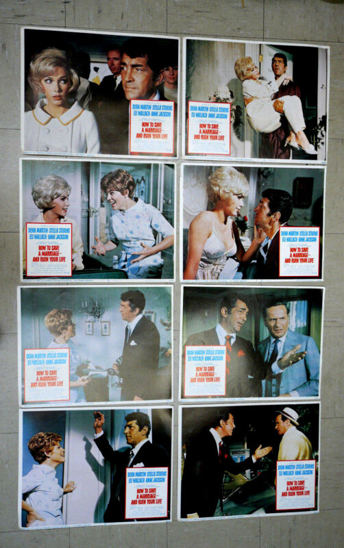 How to Save a Marriage--And Ruin Your Life Lobby Cards Full Set of 8 size 11x14