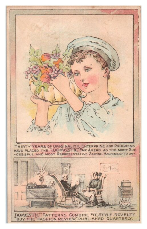 Domestic Sewing Machines and Patterns Victorian Trade Card *VT19