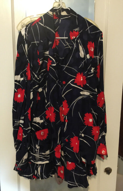 Womens Red White Blue Pleated Skirt & Top Dressy Medium  cocktail floral M