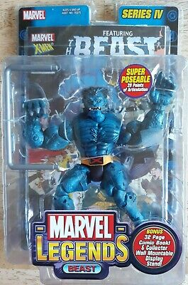 Marvel Legends Beast Series IV 4 Action Figure Toy Biz w/comic book