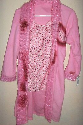 womens NEW NWT HALLOWEEN COSTUME pink ZOMBIE GRANNY BLOOD ROBE 1 SIZE gory GROSS - Gory Halloween Costumes Adults