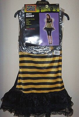 girls teens ONE SIZE MISS HONEY BUMBLE BEE HALLOWEEN COSTUME DRESS WINGS LEGGING