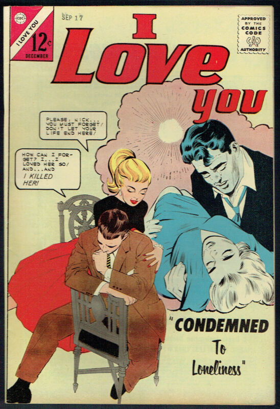I LOVE YOU  49  VF-/7.5  -  Cool Charlton Romance from 1963.