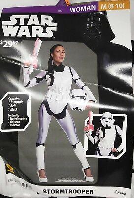 NWT Disney Star Wars STORMTROOPER HALLOWEEN Bodysuit Costume RUBIES Women M 8-10 - Stormtrooper Costume Women
