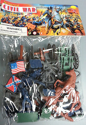 TOY SOLDIER ACTION FIGURE SET AMERICAN CIVIL WAR NEW IN PACKAGE