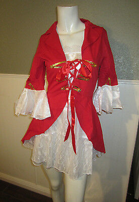Lady Captain Pirate Swashbuckler Costume with Hat  Sassy Cosplay Size Small - Pirate Costumes