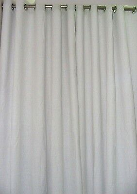Pure Natura Linen Curtains White and Ivory color custom made as per selections  - Ivory Lined Curtains