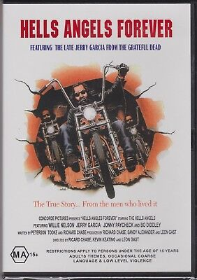 HELLS ANGELS FOREVER DVD Willie Nelson Jerry Garcia Harley Davidson Motorcycle