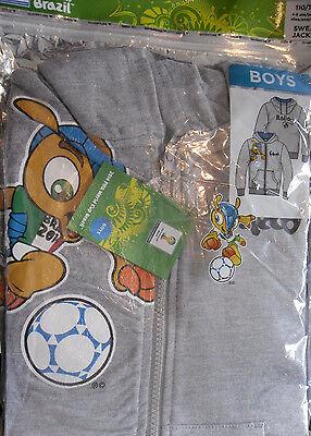 WM 2014 * Jungen Kinder Fußball Sweat Jacke *Grau*Italien*110/116 *Neu* OVP