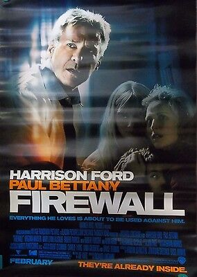 2006 Firewall Harrison Ford Paul Bettany Original Double Sided Movie Poster