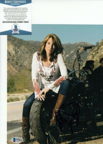 KATEY SAGAL signed (SONS OF ANARCHY) 8X10 photo *Gemma Teller* BECKETT T29642