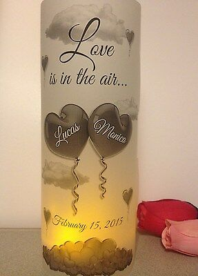 10 Personalized Love Hearts Wedding Luminaries Table Centerpieces Decorations - Wedding Luminaries