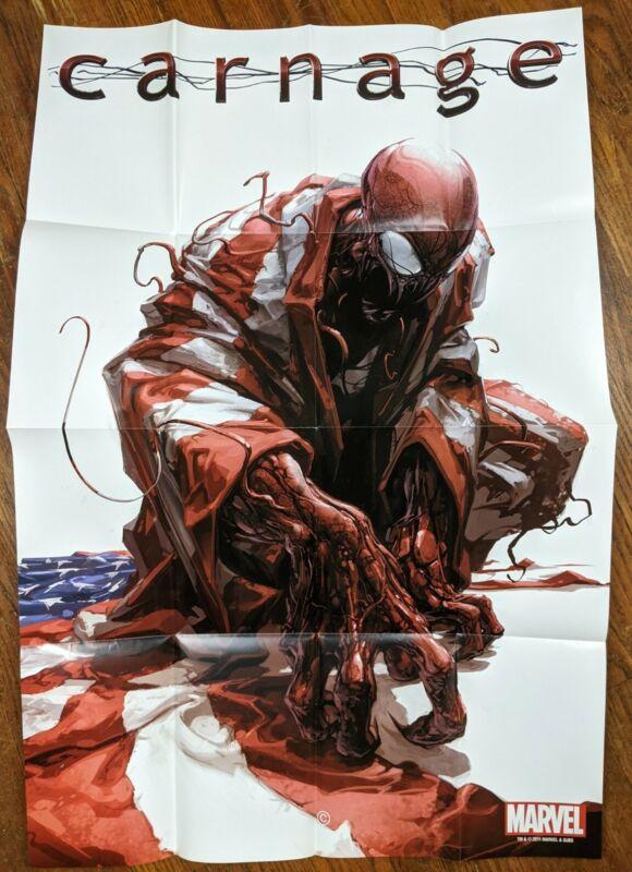 Carnage - Spider-Man Clayton Crain Marvel Comic Dealer Poster 2011 24x36 New
