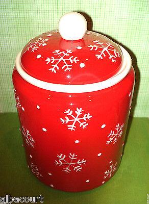 "HALLMARK CHRISTMAS SNOWMAN SNOWFLAKE LARGE CANDY COOKIE JAR NEW 6 1/2"" X 10"""