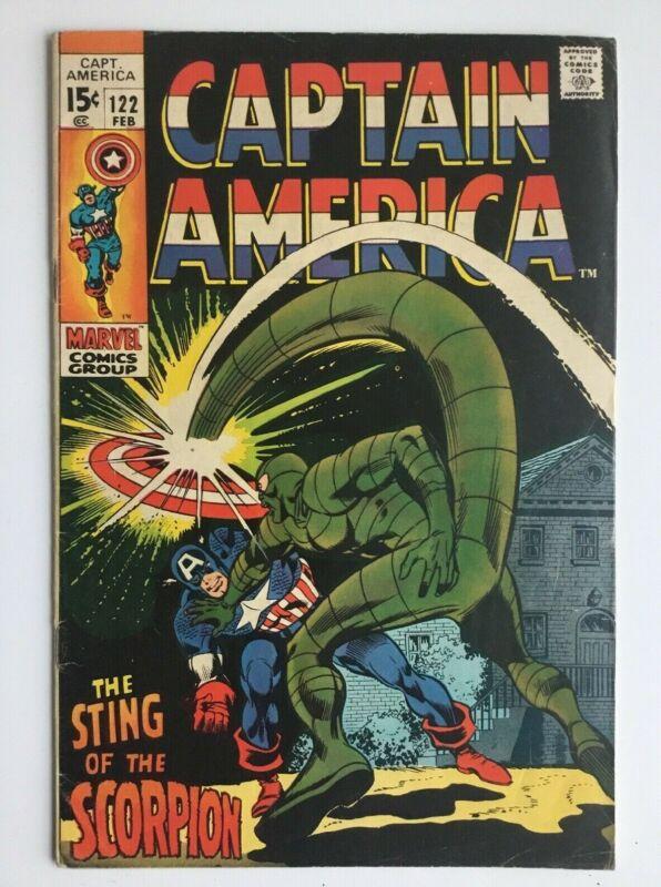 Captain America 122 - Cap vs the Scorpion! Silver Age