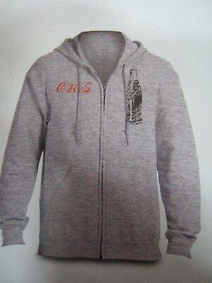 Coca-Cola Gray Zip-Up Sweatshirt w/hood - 3X Large   NEW