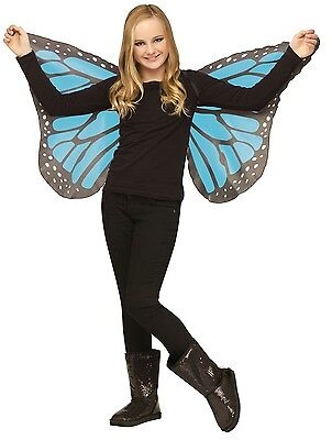 Butterfly Wings Soft Silky Fabric Child Costume Accessory, One Size, Blue Teal - Blue Butterfly Wings Costume