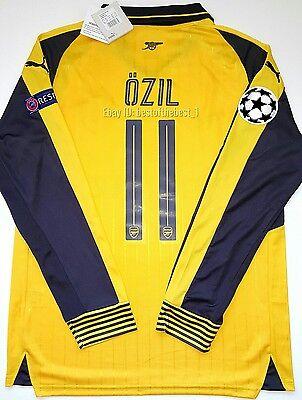 2016 2017 Arsenal Champions League Mezut Ozil Alexis Away Long Sleeve Jersey 17