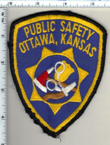 Ottawa Public Safety (Kansas) uniform take-off patch from 1990