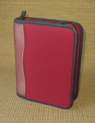 Compact Franklin Covey Red Durable Sport 1 Rings Zip Plannerbinder
