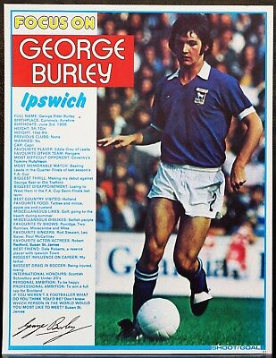 FOOTBALL PLAYER FOCUS GEORGE BURLEY IPSWICH TOWN SHOOT