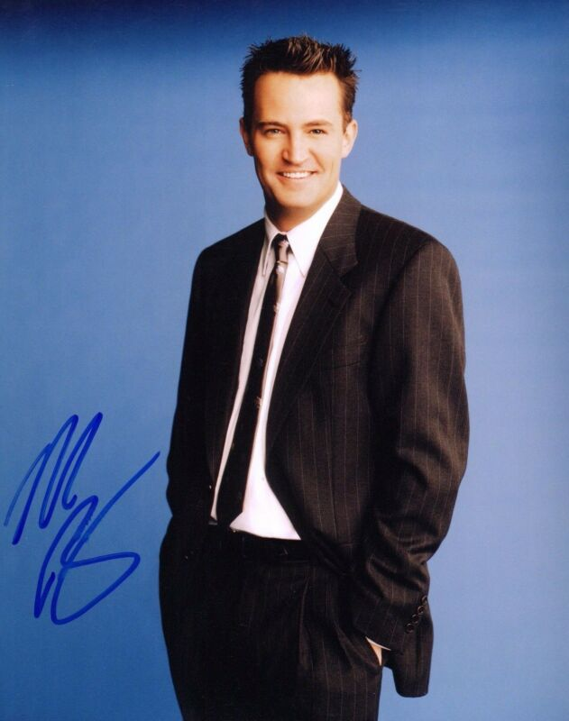 GFA Friends-Chandler Bing * MATTHEW PERRY * Signed 8x10 Photo EJ2 COA