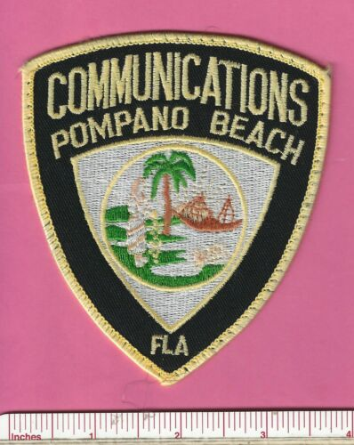 Pompano Beach Florida FL Fla Defunct Police Communications Patch  Broward County
