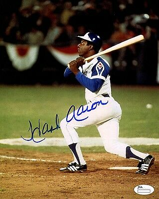 Hank Aaron Signed 8x10 Autographed Photo Atlanta Braves Hall of Fame Reprint
