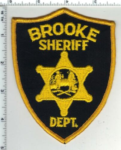 Brooke Sheriff Dept. (West Virginia) 1st Issue Wide Narrow Shoulder Patch