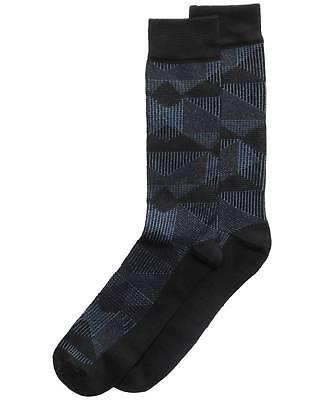 ($34 PERRY ELLIS Men's 2-Pair Pack BLACK NAVY BLUE Casual Crew Socks SHOE 7-12)