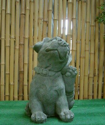 Dogs Puppy Dog Animal Figure Cast Stone New Frost Proof for Garden SU-739