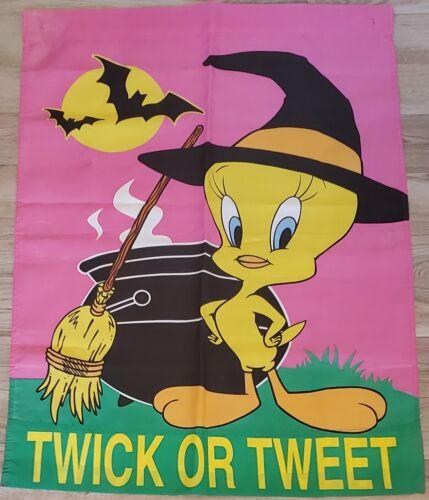 Vintage 1997 Tweety Twick or Tweet Halloween Banner Large Bright Colors