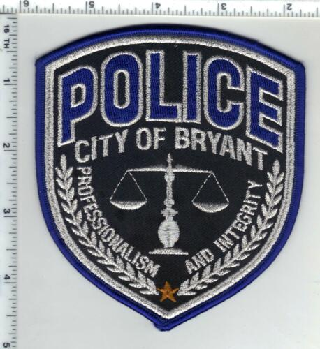 City of Bryant Police (Arkansas) 2nd Issue Silver Bullion Shoulder Patch