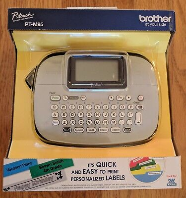 Brother P-touch Pt-m95 Electronic Labeling Systems Handy Label Maker New