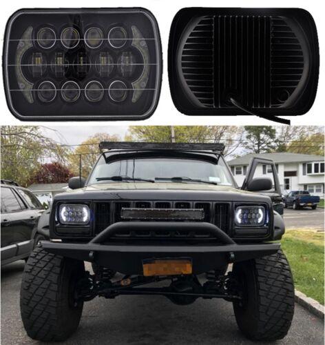 85w cree 7''x6'' led headlight hi-lo beam halo drl bulb for jeep ...  ebay