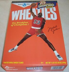 Michael Jordan, Chicago Bulls Wheaties cereal box, full, 1999, .