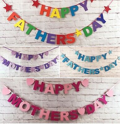 Happy Mothers Day Fathers Day Banner Bunting Party decorations Huge selection - Fathers Day Decorations
