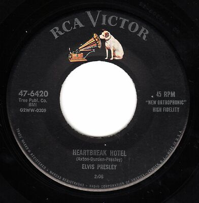 "Elvis Presley ""Heartbreak Hotel"" 1956 US RCA Records Stock 45 w/ Company Sleeve"