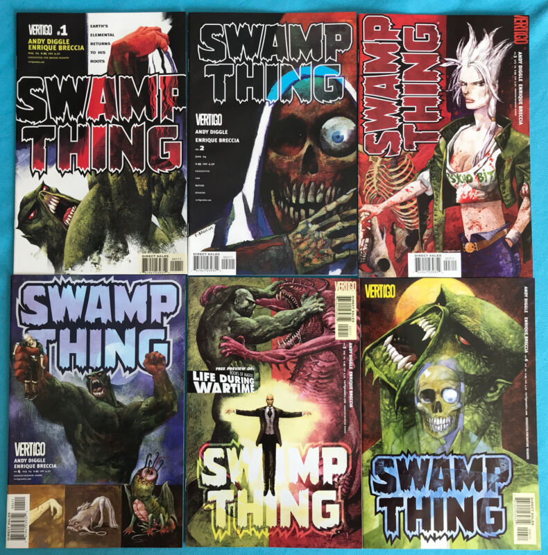 SWAMP THING Vol 4 #1 2 3 4 5 6 (2004) THE BAD SEED Andy Diggle Enrique Breccia
