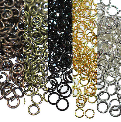Ring Making Supplies (Lots 4/5/6/8/10/12/14/20mm Split Jump Rings Connector Jewelry Making)
