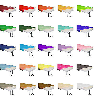 Plastic Table Covers Roll (Plastic Banquet Party Table Cover Roll - 40
