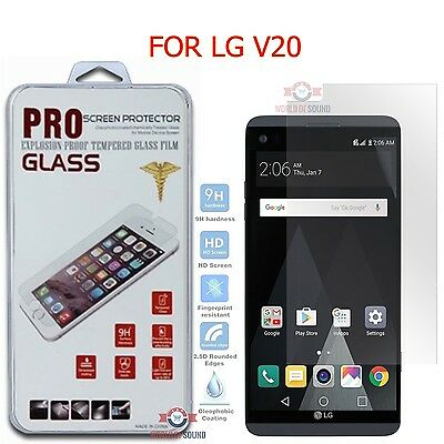 For LG V20 Screen Protector Tempered Glass Anti-Scratch Guard (Clear Sheild)